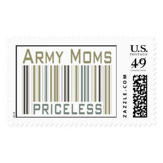 Army Moms Priceless Bar Code Stamp