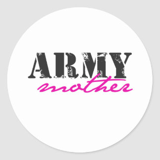 army mother classic round sticker