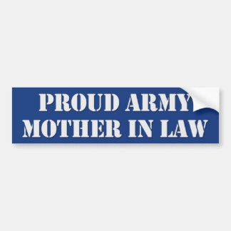 Army Mother In Law Bumper Sticker Car Bumper Sticker