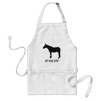 Army Mule Adult Apron