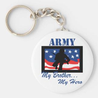 Army My Brother My Hero Keychain