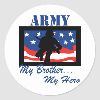 Army My Brother My Hero Stickers
