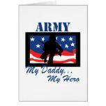 Army My Daddy My Hero Greeting Card