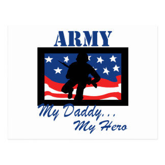 Army My Daddy My Hero Postcard