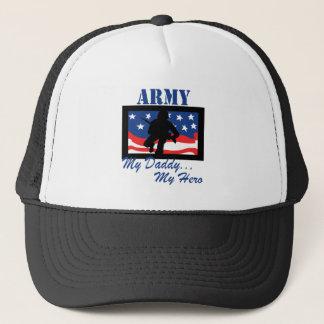 Army My Daddy My Hero Trucker Hat