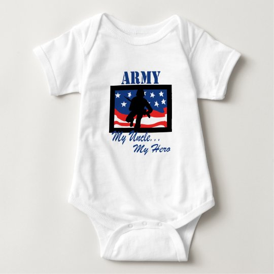 Army My Uncle My Hero Baby Bodysuit
