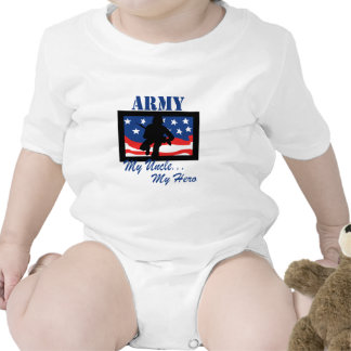 Army My Uncle My Hero Bodysuits