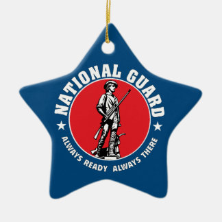 Army National Guard Historic Logo Ceramic Ornament