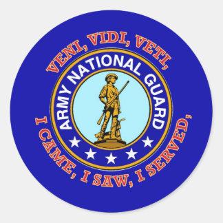 Army National Guard Logo Classic Round Sticker