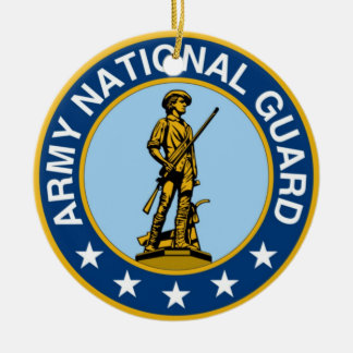 Army_National_Guard_logo Double-Sided Ceramic Round Christmas Ornament