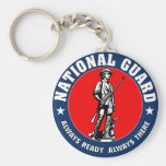 Army National Guard Logo Basic Round Button Keychain