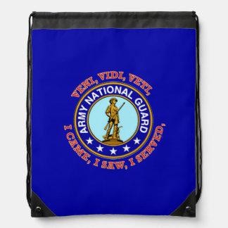 Army National Guard Logo Drawstring Bags