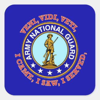 Army National Guard Logo Square Sticker