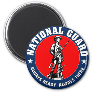 Army National Guard Military Logo 2 Inch Round Magnet