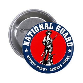 Army National Guard Military Logo Button