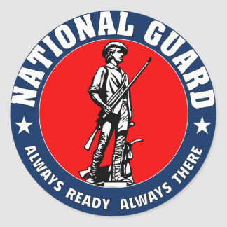 Army National Guard Military Logo Classic Round Sticker
