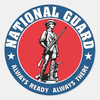 Army National Guard Minuteman Military Logo Classic Round Sticker