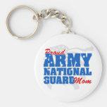 Army National Guard Mom Basic Round Button Keychain