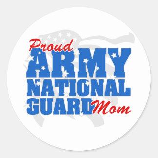 Army National Guard Mom Classic Round Sticker
