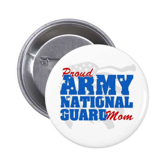 Army National Guard Mom Pinback Button
