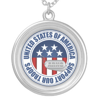 Army National Guard Personalized Necklace
