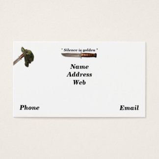 Army navy air force marines rangers lrrps lrrp sof business card