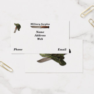 Army navy air force marines rangers surplus business card