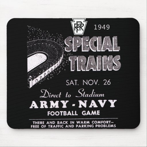 Army-Navy Game Via The Pennsylvania Railroad Mouse Pads