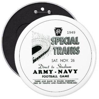 Army-Navy Game Via The Pennsylvania Railroad Pinback Button