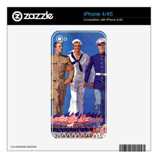 Army, Navy & Marines iPhone 4 Decal