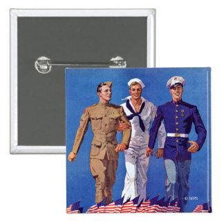 Army, Navy & Marines Pinback Button