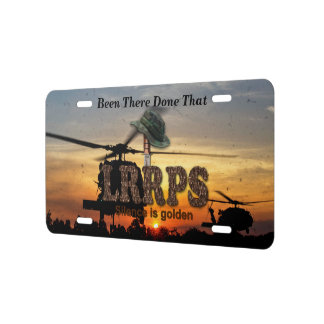 army navy marines recon lrrps lrrp veterans vets license plate
