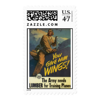 Army Needs Lumber World War 2 Postage