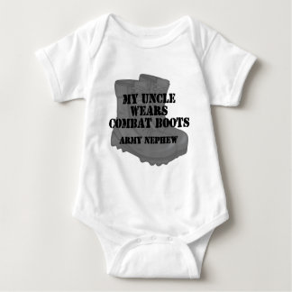 Army Nephew Uncle Combat Boots Baby Bodysuit