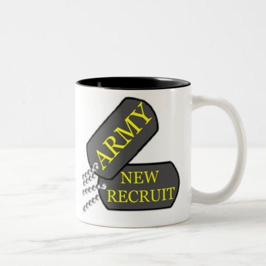 Army New Recruit Two-Tone Coffee Mug
