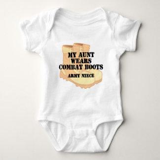 Army Niece Aunt Desert Combat Boots Baby Bodysuit