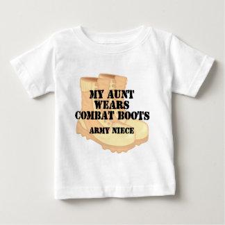 Army Niece Aunt Desert Combat Boots Baby T-Shirt