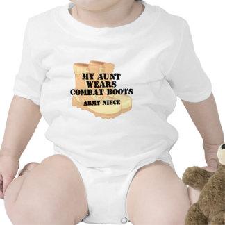 Army Niece Aunt Desert Combat Boots Rompers