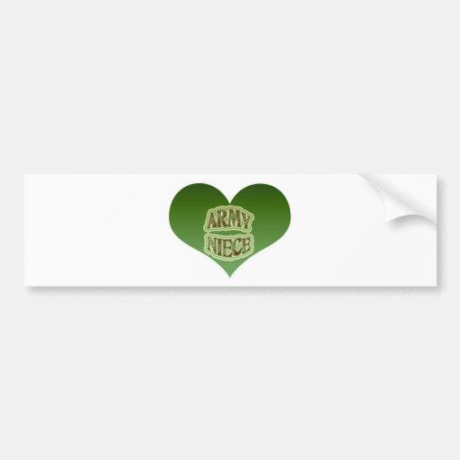 Army Niece Bumper Sticker
