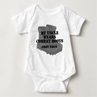 Army Niece Uncle Combat Boots Baby Bodysuit