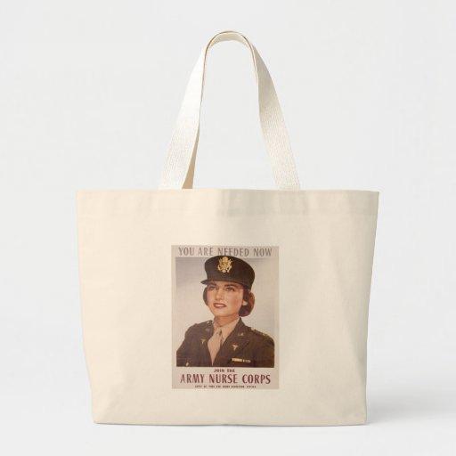Army Nurse Corp Recruiting Canvas Bag