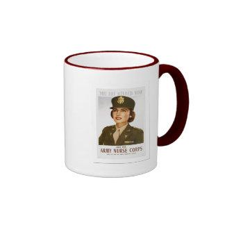 Army Nurse Ringer Mug