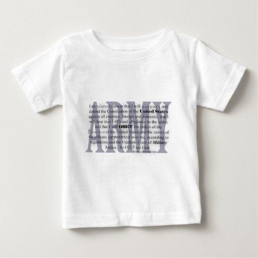army oath infant t-shirt