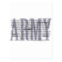 army oath postcard