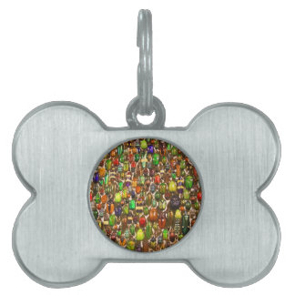 Army of Beetles and Bugs Pet Tag