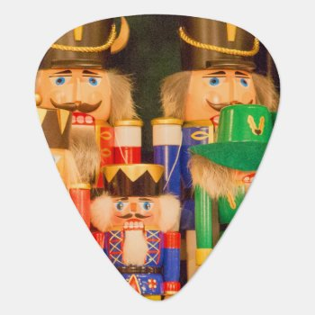 Army Of Christmas Nutcrackers Guitar Pick by StuffOrSomething at Zazzle