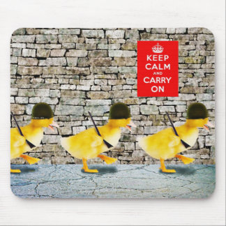 Army of Cute Duckling Soldiers! Mouse Pad