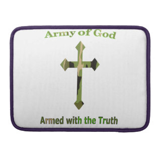 Army of God Christian products Sleeve For MacBooks