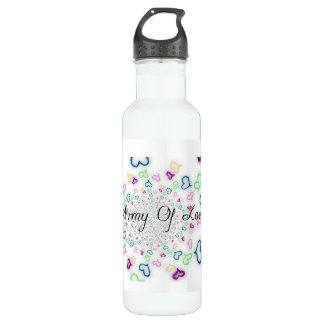 Army of love 24oz water bottle