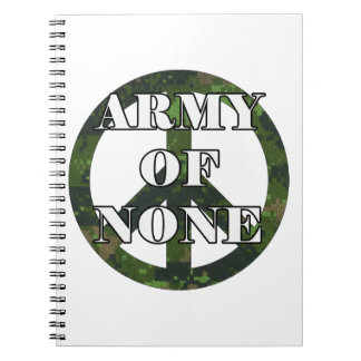 ARMY OF NONE NOTEBOOK